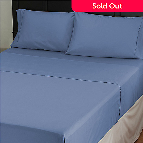 431-038 - North Shore Living™ 600TC Cotton Sateen Four-Piece Sheet Set