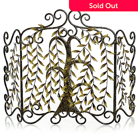 431-060 - 25.5'' Hanging Leaves Fireplace Screen