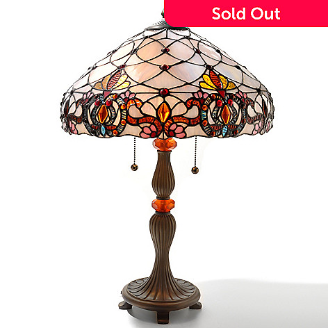 431-061 - Tiffany-Style 24'' The Hampton Stained Glass Table Lamp