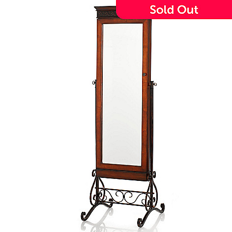 431-064 - 69'' Savannah Cheval Mirror Jewelry Armoire