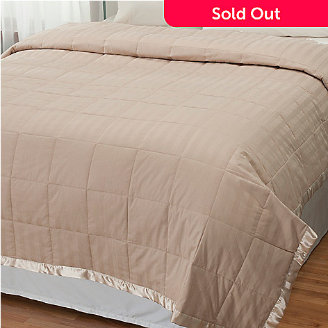 431-073 - Macy's Charter Club Cotton Damask Down Alternative Blanket
