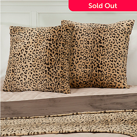 431-076 - Macy's Charter Club® Set of Two 20'' x 20'' Faux Fur Decorative Pillows