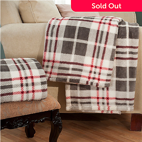 431-079 - Macy's Charter Club 70'' x 50'' Set of Two Ultra Plush Throws