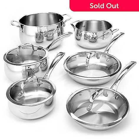 431-088 - Macy's Tools of the Trade Belgique Stainless Steel 10-Piece Cookware Set