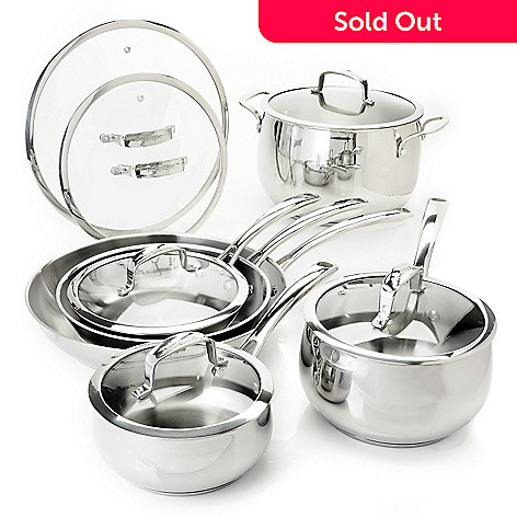 431-090 - Macy's Tools of the Trade® Belgique® 12-Piece Stainless Steel Cookware Set
