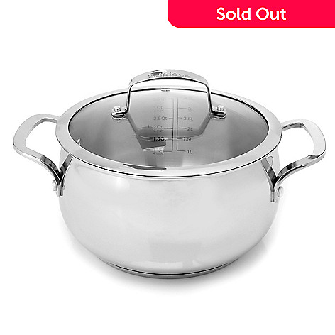 431-104 - Macy's Tools of the Trade Belgique 4 qt. Stainless Steel Covered Casserole