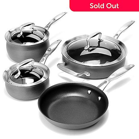 431-107 - Macy's Tools of the Trade® Belgique® Hard Anodized Seven-Piece Cookware Set