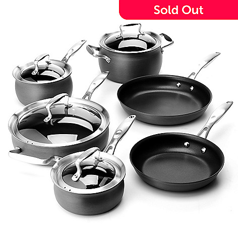 431-108 - Macy's Tools of the Trade® Belgique® Hard Anodized 10-Piece Cookware Set