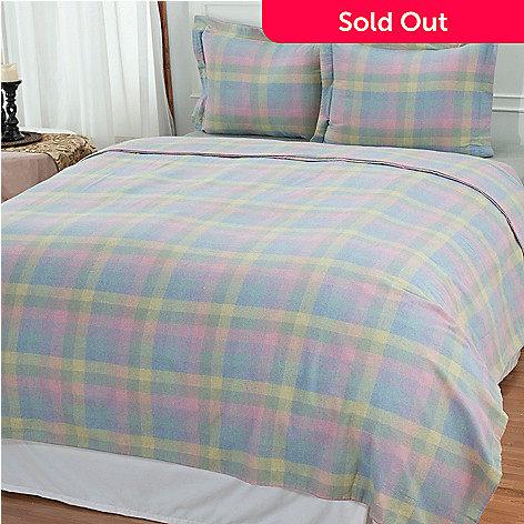 431-155 - North Shore Linens™ Three-Piece Portuguese Cotton Flannel Duvet Set