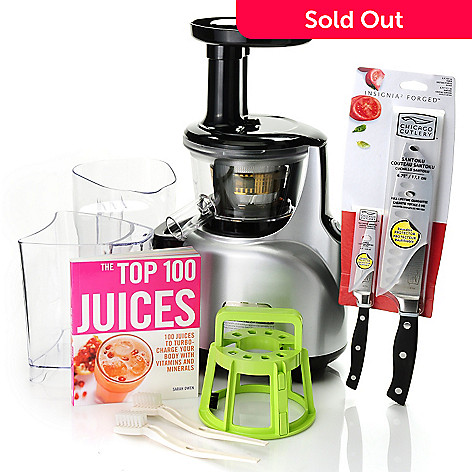 431-157 - Kuvings™ Silent Juicer & Juicing Book Set w/ Chicago Cutlery Knife Set