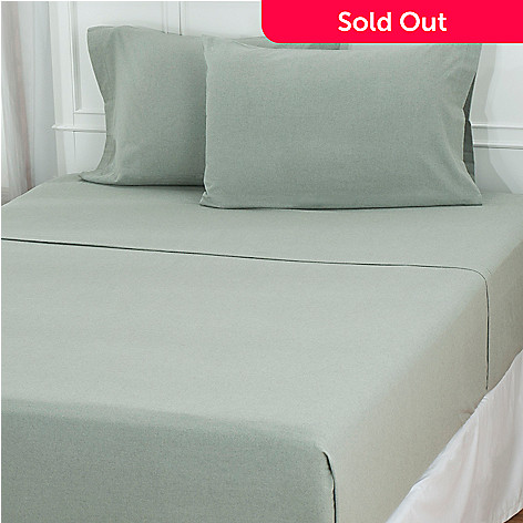 431-159 - North Shore Linens™ Portuguese Cotton Flannel Four-Piece Sheet Set