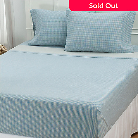 431-161 - North Shore Linens™ Portuguese Cotton Flannel Four-Piece Sheet Set