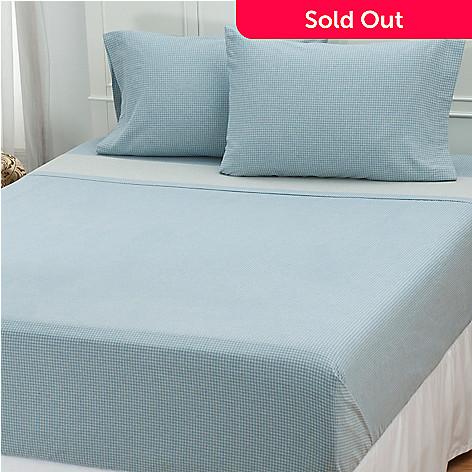 431-161 - North Shore Linens™ Portuguese Cotton Flannel Four-Piece Sheet Set