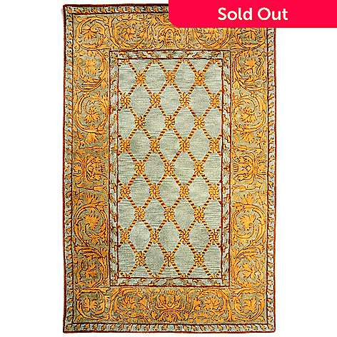 431-162 - Bashian Rugs Imperial-Style Hand-Tufted 100% Wool Rug