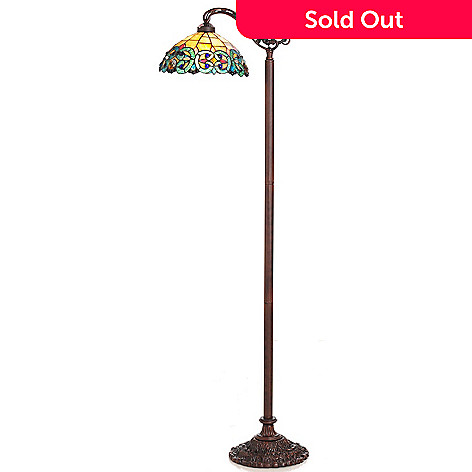 431-184 - Tiffany-Style 61'' Corrista Side-Arm Stained Glass Floor Lamp