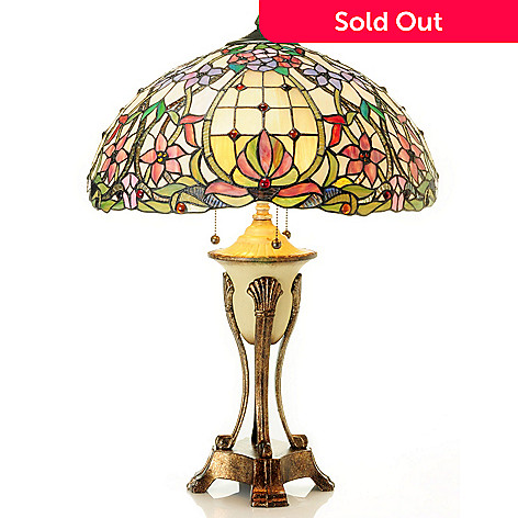 431-192 - Tiffany-Style 27.25'' Beaumont Stained Glass Table Lamp