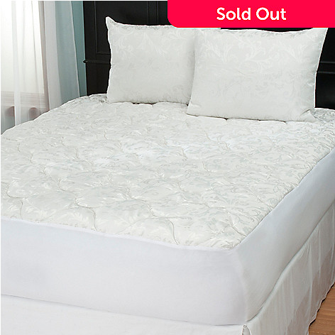 431-212 - Cozelle® Jacquard Three-Piece Pillow Protector & Mattress Pad Set