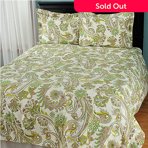 431-221 - North Shore Linens™ ''Melissa'' Cotton Three-Piece Duvet Set