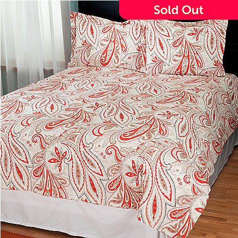 431-223 - North Shore Linens™ ''Bandana'' Cotton Three-Piece Duvet Set