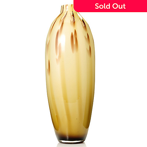 431-272 - Favrile 15.5'' Hand-Blown Art Glass Golden Rod Vase