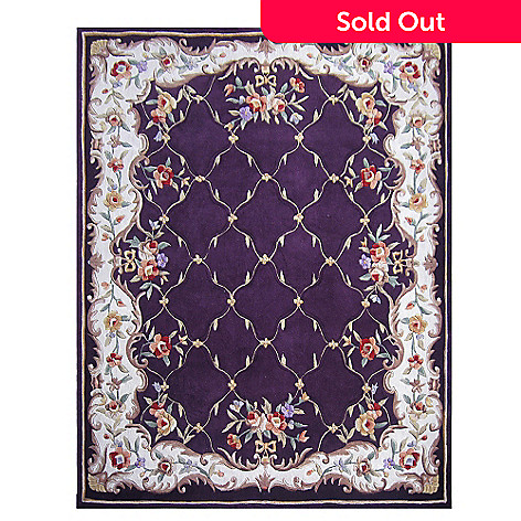 431-277 - Global Rug Gallery™ 5' x 8' or 8' x 10' Hand Tufted 100% Wool Lattice Rug