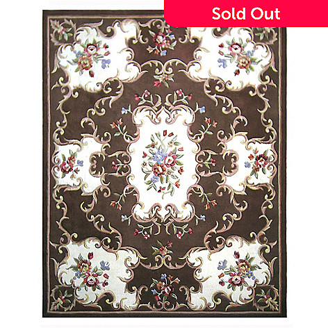 431-285 - Global Rug Gallery™ 5' x 8' or 8' x 10' Hand-Tufted 100% Wool Aubusson-Style Rug