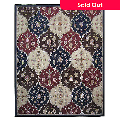 431-289 - Global Rug Gallery™ 5' x 8' or 8' x 10' Medallion Hand-Tufted 100% Wool Rug