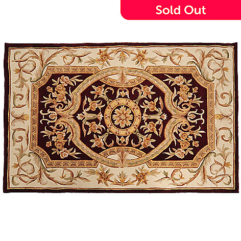 431-315 - Global Rug Gallery™ 5' x 8' or 8' x 10' Hand-Tufted 100% Wool & Artisan Silk Medallion Rug