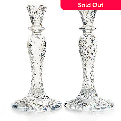 431-322 - Waterford Crystal Sea Jewel 10'' Candlestick Pair