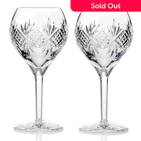 431-339 - Waterford® Crystal Alene Wine Goblet 14 oz Glass Pair