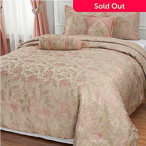 431-365 - North Shore Linens™ ''Legacy Rose'' Five-Piece Bedspread Set