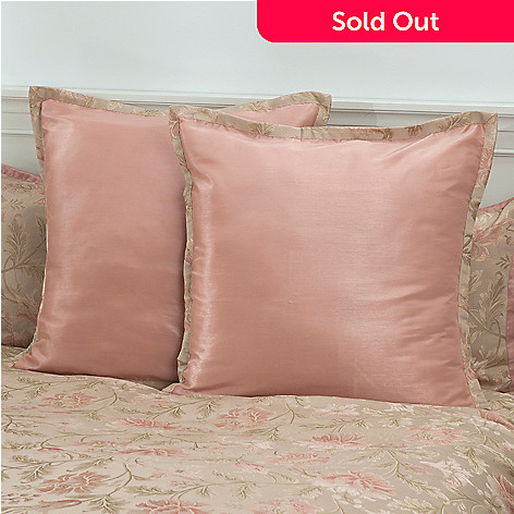 431-366 - North Shore Linens™ ''Legacy Rose'' Euro Sham Pair