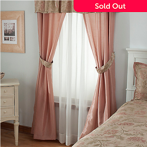 431-367 - North Shore Linens™ ''Legacy Rose'' Four-Piece Window Set