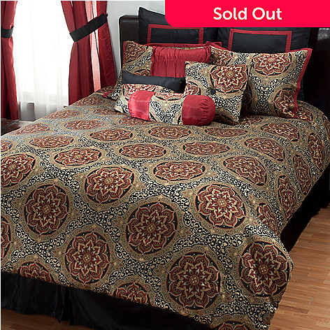 431-378 - North Shore Linens™ ''Nairobi'' 10-Piece Bedding Ensemble