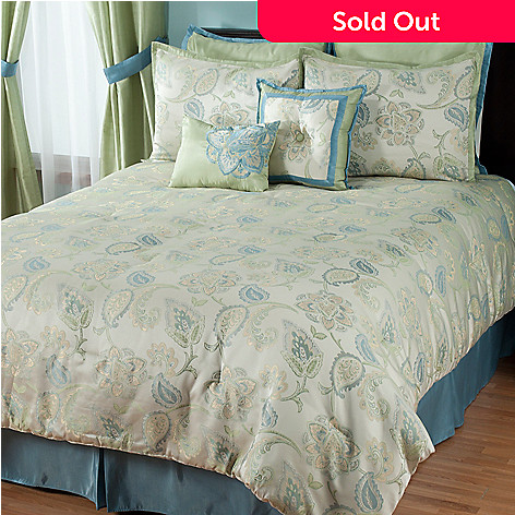 431-381 - North Shore Linens™ ''Minorca'' Eight-Piece Bedding Ensemble