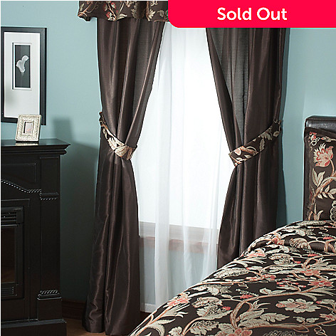 431-395 - North Shore Linens™ ''Belmont'' Four-Piece Window Set