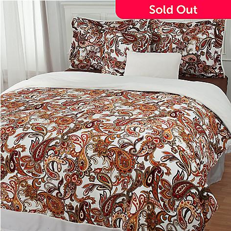 431-399 - Cozelle® Microplush Paisley Reversible Five-Piece Comforter Set