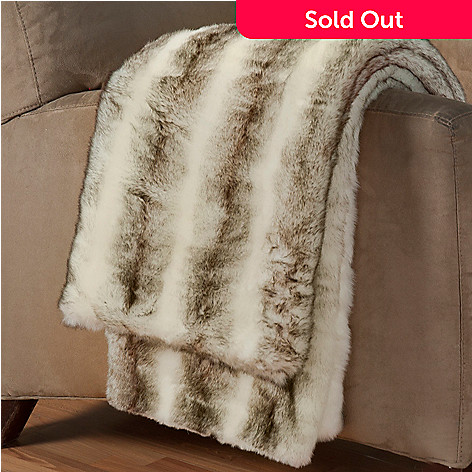 431-415 - North Shore Linens™ 60'' x 50'' Faux Fur Throw