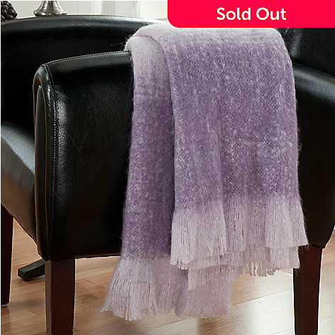 431-418 - North Shore Linens™ 70'' x 50'' Ombre Faux Mohair Knit Throw