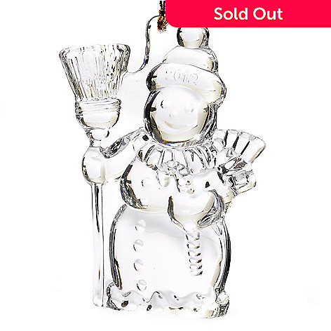 431-549 - Marquis® by Waterford® 4'' Glass 2012 Snowman Ornament
