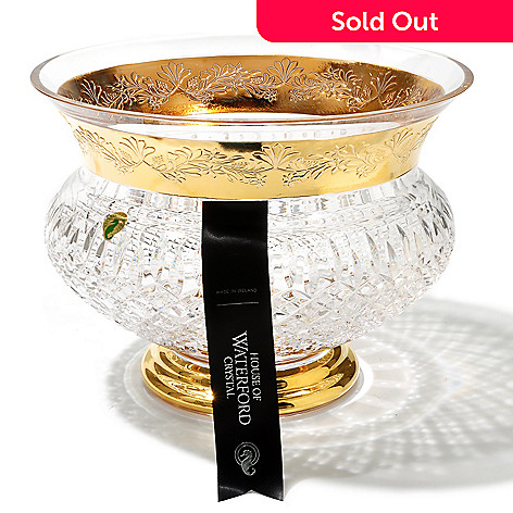 431-560 - House of Waterford® Lismore Limited Edition 11.5'' Crystal Castle Gilded Bowl