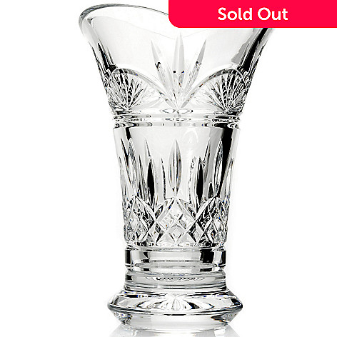 431-563 - Waterford Crystal 8'' Flared Vase -Signed by Jim O' Leary