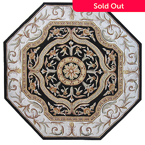 431-582 - Global Rug Gallery™ 2' x 8' or 6' x 6' Hand-Tufted 100% Wool & Artisan Silk Medallion Rug
