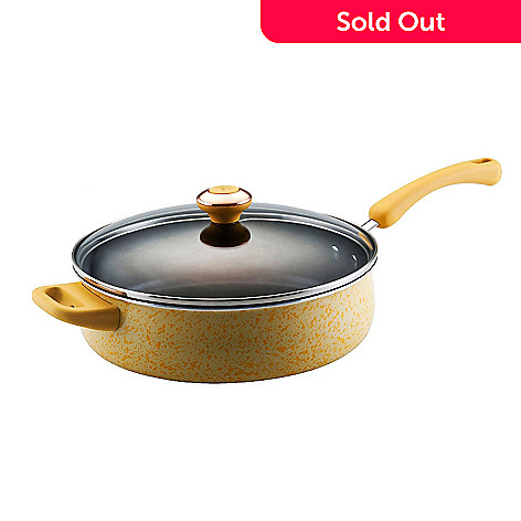 431-678 - Paula Deen® Nonstick Porcelain Enamel 5 Quart Covered Saute Pan
