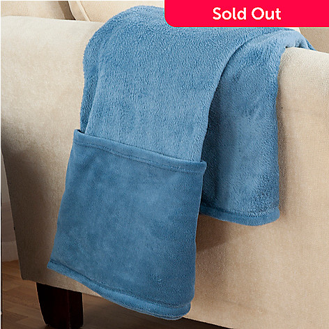 431-728 - Cozelle® 70'' x 60'' Plush Foot Pocket Throw