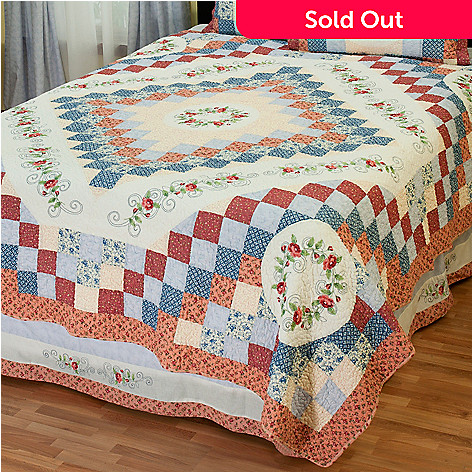 431-746 - North Shore™ Collectible Quilts ''Garden Song'' Limited Edition 100% Cotton Quilt