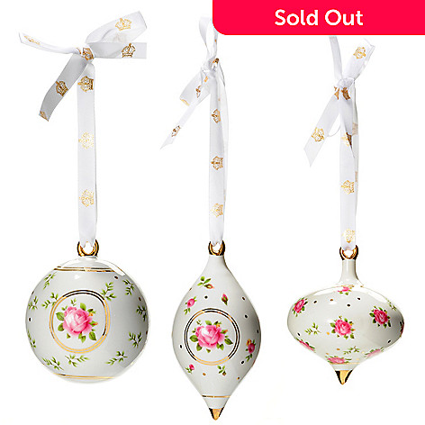 431-793 - Royal Albert New Country Roses Set of Three Ornaments