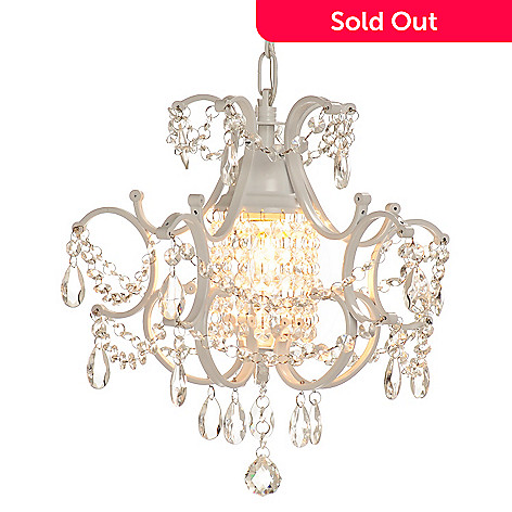 431-795 - Gallery Versailles Collection 10'' Wrought Iron & Crystal Glass Chandelier