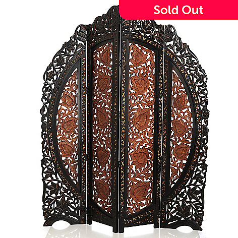 431-805 - Style at Home with Margie 72'' Hand-Carved La Mano Tallo Screen