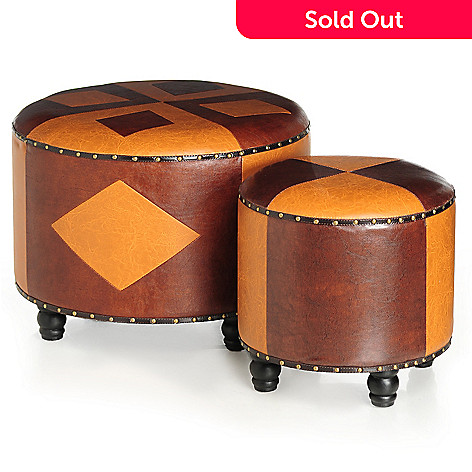 431-809 - Style at Home with Margie Set of Two Tudor Nesting Stools
